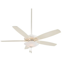 Mojo 52 inch Bone White Ceiling Fan in Frosted White Glass