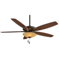 Minka-Aire F522-ORB/TS Mojo 52 inch Oil Rubbed Bronze with Mediium Maple/Dark Walnut Blades Ceiling Fan in Tea Stain Glass Dark Walnut / Medium Maple