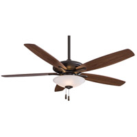 Minka-Aire F522-ORB Mojo 52 inch Oil Rubbed Bronze with Medium Maple/Dark Walnut Blades Ceiling Fan in Frosted White