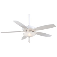 Mojo 52 inch White Ceiling Fan in White Frosted