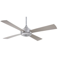 Aluma 52 inch Brushed Aluminum Outdoor Ceiling Fan in Etched Opal
