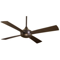 Minka-Aire F523-ORB Aluma 52 inch Oil Rubbed Bronze Outdoor Ceiling Fan in Tinted Opal