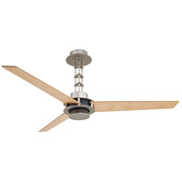 San Francisco 56 inch Brushed Steel/Chrome with Birdseye Maple Blades Ceiling Fan