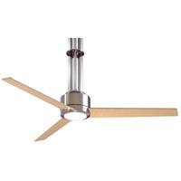 Flyte 56 inch Brushed Nickel with Maple Blades Ceiling Fan