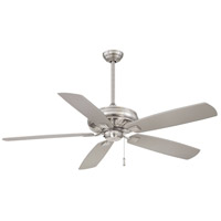 Sunseeker 60 inch Brushed Nickel Wet with Silver Blades Outdoor Ceiling Fan
