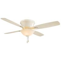 Minka-Aire Mojo 52 inch Bone White Ceiling Fan in Bone White Glass Flush Mount
