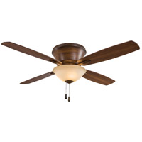 Minka-Aire F533-DK Mojo II 52 inch Distressed Koa with Medium Maple/Dark Walnut Blades Flush Mount Ceiling Fan in Tea Stain Glass Dark Walnut /