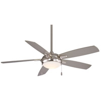 Lun-Aire 54 inch Brushed Nickel with Silver Blades Ceiling Fan