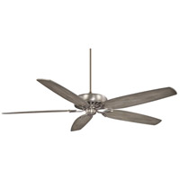 Great Room Traditional 72 inch Brushed Nickel with Seashore Grey Blades Ceiling Fan
