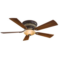Calais 52 inch Belcaro Walnut with Dark Walnut Blades Flush Mount Ceiling Fan, Flush Mount