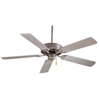 Contractor 42 inch Brushed Steel with Silver Blades Ceiling Fan