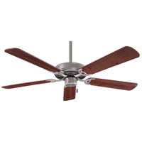 Contractor 52 inch Brushed Steel with Dark Walnut Blades Ceiling Fan