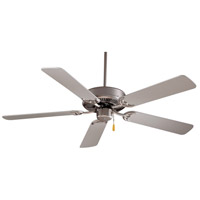 Contractor 52 inch Brushed Steel with Silver Blades Ceiling Fan