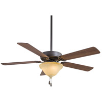 Minka-Aire F548-ORB/EX Contractor Uni-Pack 52 inch Oil Rubbed Bronze with Medium Maple Blades Ceiling Fan in Excavation Glass