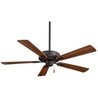 Minka-Aire F556-ORB Contractor Plus 52 inch Oil Rubbed Bronze with Reversible Medium Maple/Dark Walnut Blades Ceiling Fan in Dark Maple/Dark Walnut