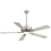 Contractor 52 inch Brushed Nickel with Silver Blades Ceiling Fan