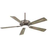 Minka-Aire F556L-BNK Contractor Plus 52 inch Burnished Nickel with Savannah Gray Blades Ceiling Fan