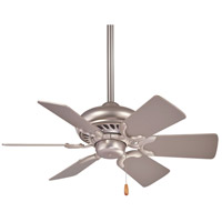 Supra 32 inch Brushed Steel with Silver Blades Ceiling Fan