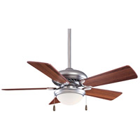 Minka-Aire F563-SP-BS/DW Supra 44 inch Brushed Steel with Dark Walnut Blades Ceiling Fan