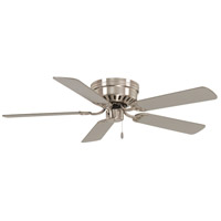 Mesa 52 inch Brushed Nickel with Silver Blades Flush Mount Ceiling Fan