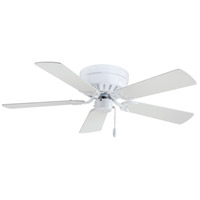 Mesa 42 inch White Flush Mount Ceiling Fan, Flush Mount