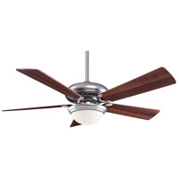Minka-Aire F569-BS/DW Supra 52 inch Brushed Steel with Dark Walnut Blades Ceiling Fan