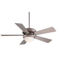 Minka-Aire F569-BS Supra 52 inch Brushed Steel with Silver Blades Ceiling Fan in Opal