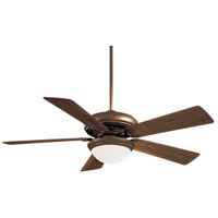 Supra 52 inch Oil Rubbed Bronze with Medium Maple Blades Ceiling Fan in Opal