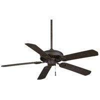 Minka-Aire F589-BI/AI Sundowner 54 inch Black Iron with Aged Iron Accents with Black Iron Blades Ceiling Fan in Black Iron w/ Aged Iron Black