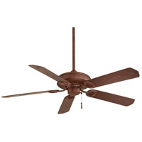 Sundowner 54 inch Vintage Rust with Dark Maple Blades Outdoor Ceiling Fan