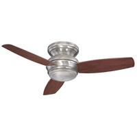 Concept 44 inch Pewter Outdoor Ceiling Fan in Opal, Flush Mount