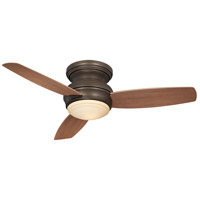 Traditional Concept 44 inch Oil Rubbed Bronze with Medium Maple Blades Flush Mount Ceiling Fan