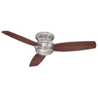 Concept 52 inch Pewter with Dark Maple Blades Outdoor Ceiling Fan in Opal, Flush Mount