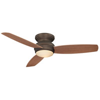 Traditional Concept 52 inch Oil Rubbed Bronze with Medium Maple Blades Flush Mount Ceiling Fan
