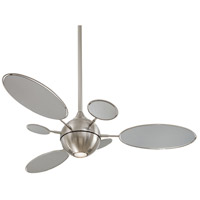 Cirque 54 inch Brushed Nickel with Silver Blades Ceiling Fan