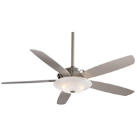Airus 54 inch Brushed Nickel with Silver Blades Ceiling Fan in Acid Etched