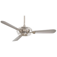Acero 52 inch Brushed Steel/Brushed Nickel with Silver Blades Ceiling Fan