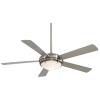 Como 54 inch Brushed Nickel with Silver Blades Ceiling Fan