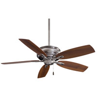 Minka-Aire F614-PW Timeless 54 inch Pewter with Dark Walnut Blades Ceiling Fan