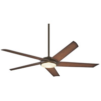 Minka-Aire F617L-ORB/AB Raptor 60 inch Oil Rubbed Bronze With Antique Brass with Tobacco Blades Ceiling Fan photo thumbnail