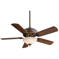 Bolo 52 inch Belcaro Walnut with Dark Walnut Blades Ceiling Fan in Excavation Glass