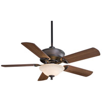 Minka-Aire F620-ORB Bolo 52 inch Oil Rubbed Bronze with Medium Maple Blades Ceiling Fan in Excavation Glass