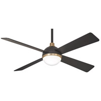 Minka-Aire F623L-BC/SBR Orb 54 inch Brushed Carbon with Soft Brass with Brushed Carbon Blades Ceiling Fan