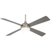 Minka-Aire F623L-BS/BN Orb 54 inch Brushed Steel with Brushed Nickel with Silver Blades Ceiling Fan