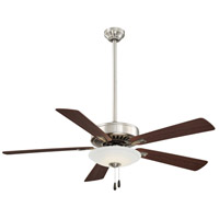 Contractor Uni-Pack 52 inch Brushed Nickel with Medium Maple/Dark Walnut Blades Ceiling Fan