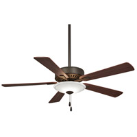 Contractor Uni-Pack 52 inch Oil Rubbed Bronze with Medium Maple/Dark Walnut Blades Ceiling Fan