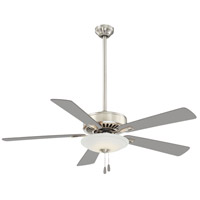 Contractor Uni-Pack 52 inch Polished Nickel with Silver Blades Ceiling Fan