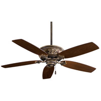 Classica 54 inch Patina Iron with Dark Walnut Blades Ceiling Fan