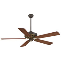 Minka-Aire F672-ORB/AB Iconic 60 inch Oil Rubbed Bronze w/ Antique Brass with Medium Maple/Dark Maple Blades Ceiling Fan