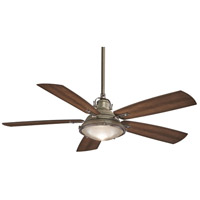 Groton 56 inch Weathered Aluminum with Dark Pine Blades Outdoor Ceiling Fan